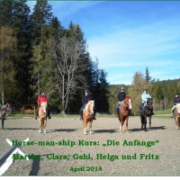 "Horse-man-ship Kurs im April: ""Die Anfänge"""
